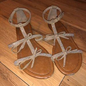 Gold Sparkle Sandals